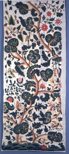 This panel is technique: crewel wool embroidery.    This panel is from United Kingdom.