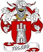 De Toledo Spanish Coat Of Arms www.4crests.com #coatofarms #familycrest #familycrests #coatsofarms #heraldry #family #genealogy #familyreunion #names #history #medieval #codeofarms #familyshield #shield #crest #clan #badge #tattoo #crests #reunion #surname #genealogy #spain #spanish #shield #code #coat #of #arms