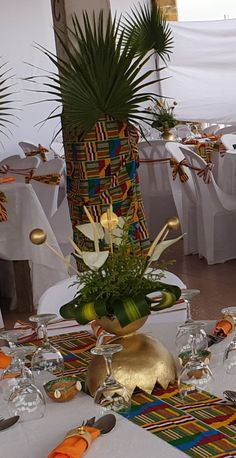 African Wedding Theme, African Theme, Nigerian Traditional Wedding, Traditional Wedding Decor, Wedding Reception Tables, Wedding Table Settings, Afro, Weeding Planner, 40th Birthday Decorations