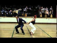 Jeremy and Laura at Battle of the Big Bands Stout vs Gee. Balboa, shag, and lindy hop!