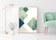 Printing Services, Online Printing, Forest Scenery, Evergreen Forest, Gold Line, International Paper Sizes, Green Trees, Modern Wall Art, Printable Art