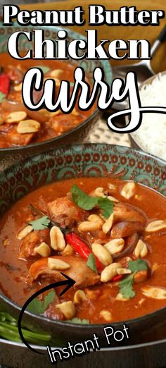 This easy but amazing Instant pot meal Peanut Butter Chicken Curry is made in no time. It is so good it could be served to company but simple enough to enjoy any day! Peanut Butter Chicken, Butter Chicken Curry, Peanut Butter Sauce, Instant Pot Pressure Cooker, Pressure Cooker Recipes, Peanut Curry, Best Instant Pot Recipe, Yum Yum Chicken, Baked Chicken