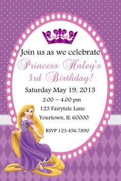 Tangled Birthday Party Invitations - Tangled Party - Tangled Birthday