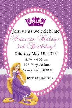 Tangled Birthday Party Invitations - Tangled Party - Tangled Birthday