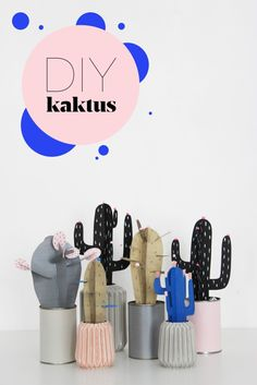 DIY: Paper cactus, with templates - in Danish. A video is always on the site.