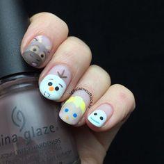 #beauty #nails #hands #Disney #winter