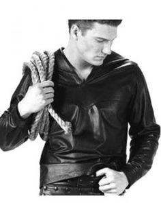 Resolute Seaman Leather Shirt   #leatherbaba #leathershirt #workshirt