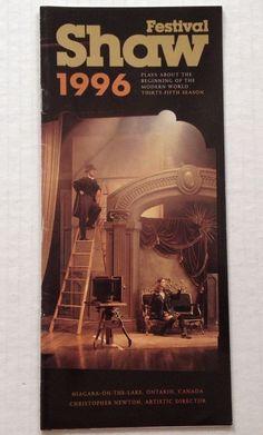 Shaw Festival 1996 Brochure Theater Program Canada Theatre Souvenir Book