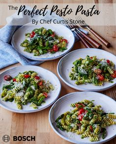 Fusilli Recipes, Pesto Pasta Recipes, Seafood Recipes, Vegetarian Recipes, Healthy Recipes, Curtis Stone Recipes, Sauce A La Creme, Clean Eating, Healthy Eating