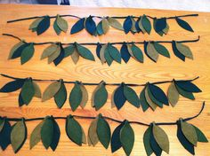 DYI felt leaves for jungle/safari party or kids bedroom.