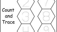Number Tracing - 1 Worksheet