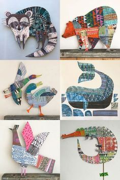 My Owl Barn: Joyful Paper Creations by Clare Youngs Paper Diamond, Origami Bird, Origami Easy, Birds For Kids, Art For Kids, Foundation Paper Piecing, English Paper Piecing, Newspaper Art, Newspaper Basket
