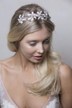 acdd580a0b6 63 Wedding Hair Accessory Ideas. Crystal Flower Headpiece from Stephanie  Browne. Brides Magazine · Wedding Hair Accessories