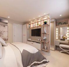 Pin by kajal gaba on interior ideas Bedroom Closet Design, Room Ideas Bedroom, Home Room Design, Small Room Bedroom, Home Bedroom, Home Interior Design, Bedroom Decor, Bedroom With Tv, Interior Ideas