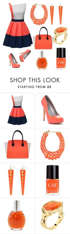 """Orange Collection"" by zbanapolyvore ❤ liked on Polyvore featuring Michael Antonio, Furla, Crabtree & Evelyn, Chloé and Jade Jagger"