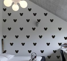 Set of 150 Mickey Mouse Head Inspired Ears Polka Dot Wall Decal Decor Decals Sticker Art Baby Nursery Surface Graphics Bedroom Bed Maden in USA DecorWallDecals Mickey Mouse Wall Decals, Mickey Mouse Room, Polka Dot Wall Decals, Polka Dot Walls, Minnie Mouse, Wall Stickers, Sticker Vinyl, Mickey Mouse Bathroom, Mickey Head