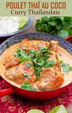 Poulet Thaï coco - The Best Indian Recipes Indian Food Recipes, Asian Recipes, Ethnic Recipes, Easy Smoothie Recipes, Healthy Recipes, Coco Curry, Thai Coconut Chicken, Thai Chicken, Thai Cooking