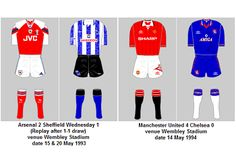 FA Cup Final Playing Kits 1992-93 to 2019-20 | My Football Facts Sheffield Wednesday, World Cup Winners, Fa Cup Final, England Football, Wrangler Shirts, Wembley Stadium, Football Kits, Fifa World Cup, Premier League