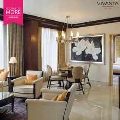 #RoomForMore A 'Suite' life at a sweet deal!  Book now & save big with the Suite Saver at Vivanta by Taj - Blue Diamond, Pune: www.tajhotels.com/roomformore #Business #Hotel #Travel #Meetings #Work #WorkLife #Stay #BusinessTrips #Conference #Seminars