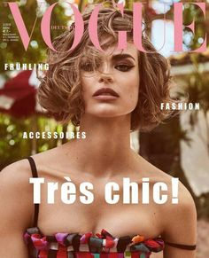 Birgit Kos on the cover of Vogue Germany March 2018
