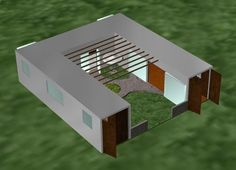 Container House - Like the thought of a courtyard in the center. Could be an expansion for original tiny house plans down the line.: - Who Else Wants Simple Step-By-Step Plans To Design And Build A Container Home From Scratch?