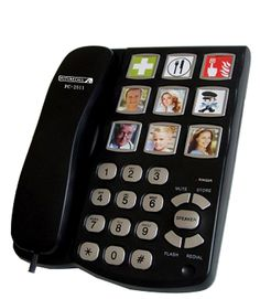Future Phone's Picture Speaker Phone makes it easier for loved ones to call their family by sight.