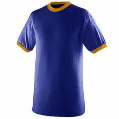 ab767138758 Augusta Sportswear Men s Double Needle Crewneck Rib Knit Ringer T Shirt. 710