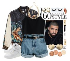 """""""Drake"""" by wendyvc ❤ liked on Polyvore featuring Chicwish, Retrò, Moschino, Wildfox, Monki, Stila, DRAKE, views and 60secondstyle"""