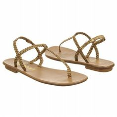 fab800f79f1f Report Roma Womens Size 8 Gold Open Toe Fabric Thongs Shoes Report.  39.70