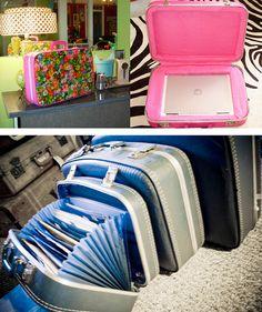 Repurpose suitcases | Repurposed suitcases | Flickr - Photo Sharing!