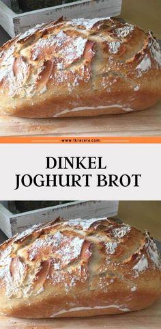 Dinkel Joghurt Brot - 1kreceta Spelt Bread, Spelt Flour, Rye Flour, Bread Pizza, Bread Food, Best Bread Recipe, Quick Bread Recipes, Easy Bread, Yogurt Bread