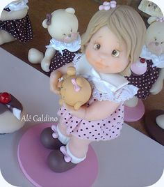 Bonequinha topo de bolo - Alessandra Galdino - Terra Fotolog