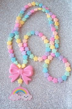 Sweet Skies Pastel Happy Rainbow and Stars by SugarPopPartyShop