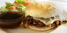 Slow Cooker Roast Beef French Dip Sandwiches are a delicious, quick, tasty… Premade Freezer Meals, Freezer Friendly Meals, Slow Cooker Freezer Meals, Easy Freezer Meals, Dump Meals, Make Ahead Meals, Freezer Cooking, Frugal Meals, Quick Meals
