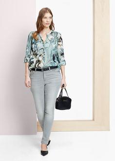 Blusa floreale cotone