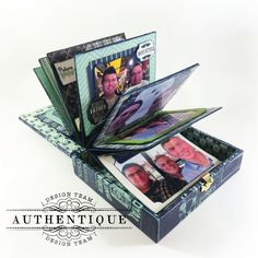"It's that time to get creative with Authentique Paper's ""Suave"" paper collection, which is perfect for us guys out there!  I always look forward to the paper collections for the Spring (including Fath"