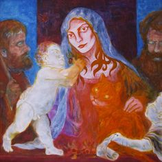 "Yury Ermolenko (Юрий Ермоленко), ""Alice & carroty cat""(""ALICE NEW!"" project), 2005, acrylic on canvas, 125x125 cm. #YuryErmolenko #юрийермоленко #ЮрийЕрмоленко #живопись #yuryermolenko #acrylic #picture #painting #art #fineart #contemporaryart #modernart #inspiration #amazing #sexy #wonderland #hot #colorful #texture #RapanStudio #exhibition #psychedelic #metaphysics #cовременноеискусство #mystery #картина #artwork #выставка #alice #fairytale #dream #sensual #fantasy #AliceInWonderland #new…"