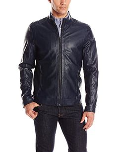 Calvin Klein Men's Faux Leather Jacket - http://www.darrenblogs.com/2016/08/calvin-klein-mens-faux-leather-jacket/