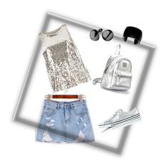 """""""silver"""" by cynthia-francisca on Polyvore featuring WithChic, Dorothy Perkins and Converse"""