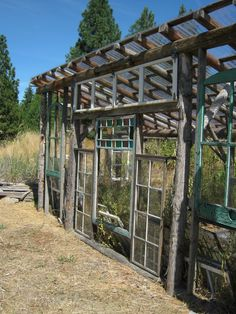 Greenhouse Made From Old Windows   My favorite was this greenhouse made of old windows, I will re-visit ...