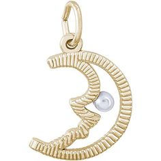 Rembrandt Half Moon Charm Gold Plated Silver -- Read more reviews of the product by visiting the link on the image. (This is an affiliate link and I receive a commission for the sales)