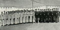 Staff of the El-Mahrousa Steamship and the Retinue of Egyptian Khedive Abbas Hilmi Pasha, Istanbul, 1895
