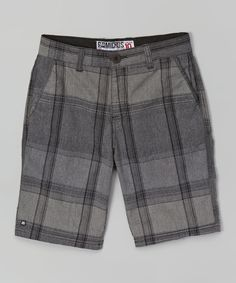 Another great find on #zulily! Black Plaid Shorts - Boys by Micros #zulilyfinds