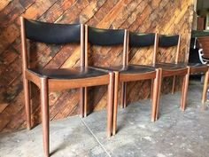 Mid Century Danish Teak Chairs by TheHuntVintageLA on Etsy