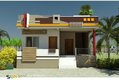 Simple Home Front Wall Design Images Home Design Images Front Home Design Home Front Elevation Paint Design Wall Simple House Entry For Best 60 Modern House Front Facade Design Exterior W. Simple House Exterior Design, House Front Wall Design, Single Floor House Design, House Outside Design, Village House Design, Kerala House Design, Floor Design, Facade Design, Ceiling Design