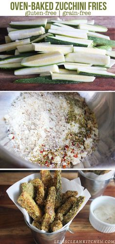 Oven-Baked Zucchini Fries
