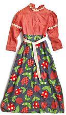HANDMADE HOMEMADE Vintage MAXI DRESS 1960s 1970s Granny HeeHaw Country Hillbilly