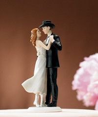 """A Sweet Country Embrace"" Cake Topper"