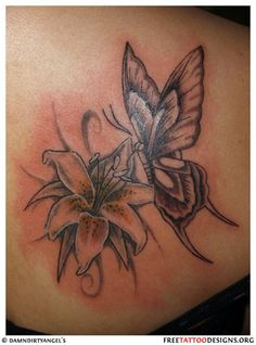 Want this Lily with a dragonfly instead of a butterfly