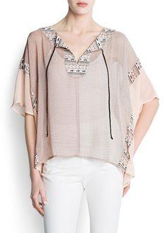 Chiffon printed blouse